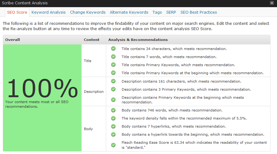 ScribePerfectScore Get Search Engine Optimized  Fast