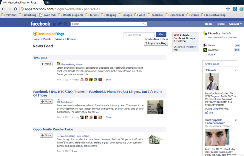 FBnetworkedblogs Connect Your Blog to Facebook Automatically