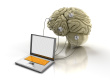stock photo 12695888 laptop and human brain Neuromarketing Research: 3 Keys that Trigger a Buying Decision