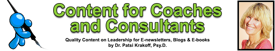 CCC Header 2014 Writing Services & Quality Leadership Content for Coaches